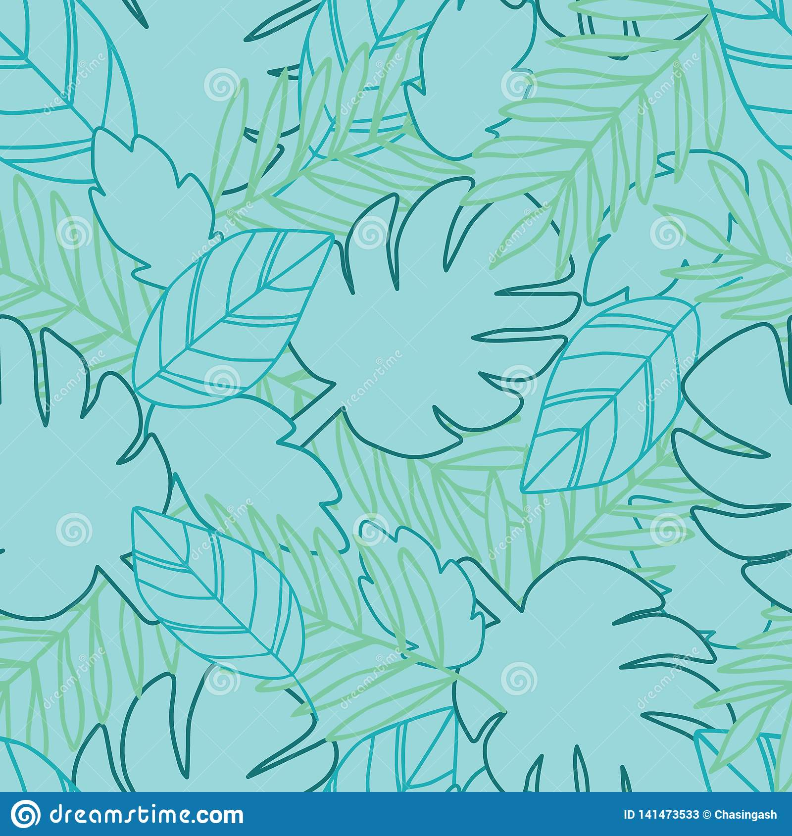 Botanical jungle leaves pattern, tropical seamless, flower for fashion fabric and all prints on sweet pink background in