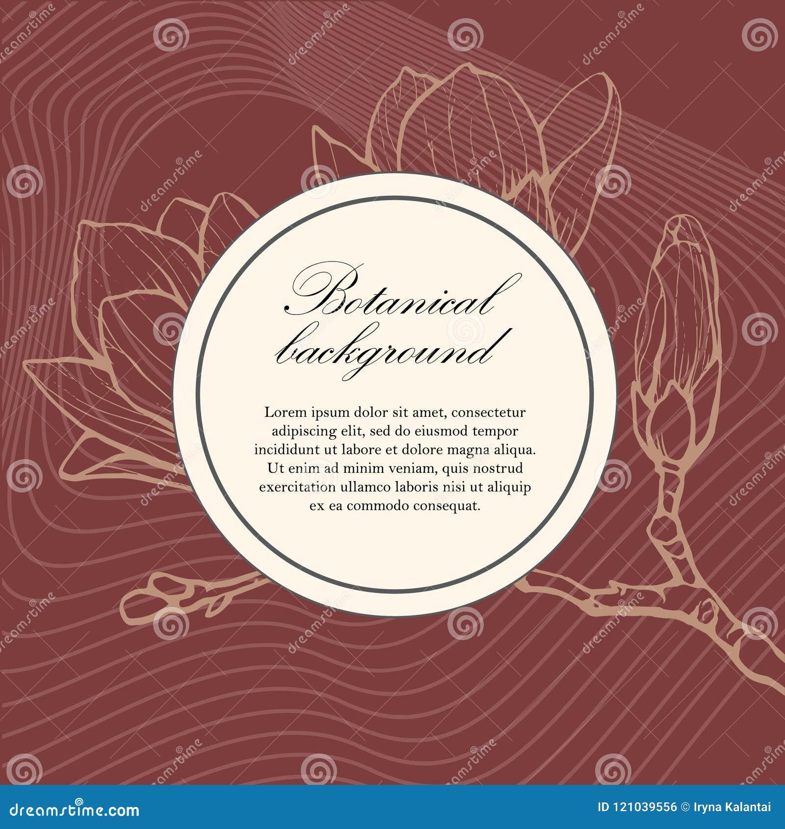 botanical wedding template with magnolia wedding invitation save