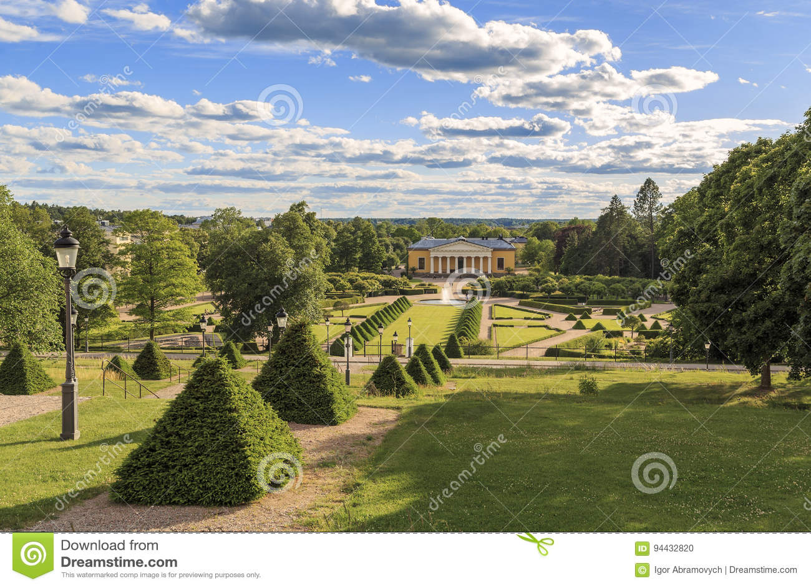Botanisk trädgård Uppsala, Sverige
