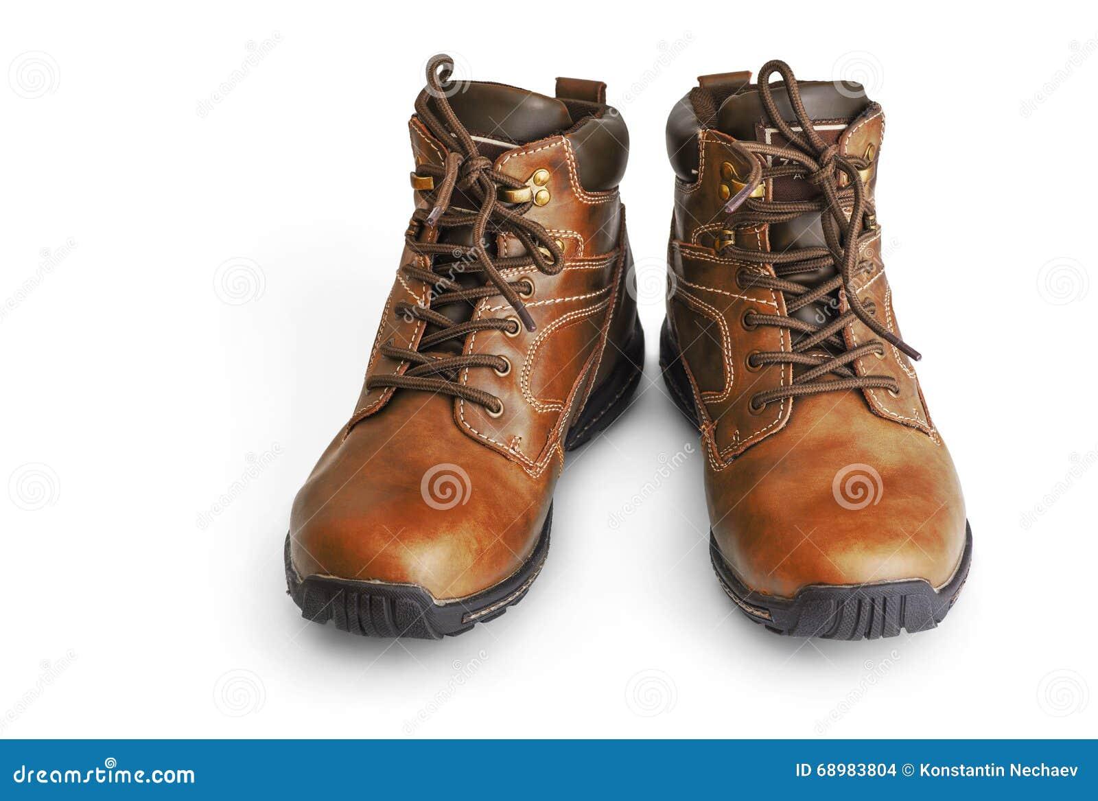Botas de Brown en blanco