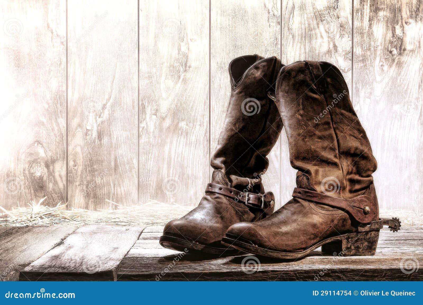 Botas de cowboy velhas de Roper do Slouch do rodeio ocidental americano