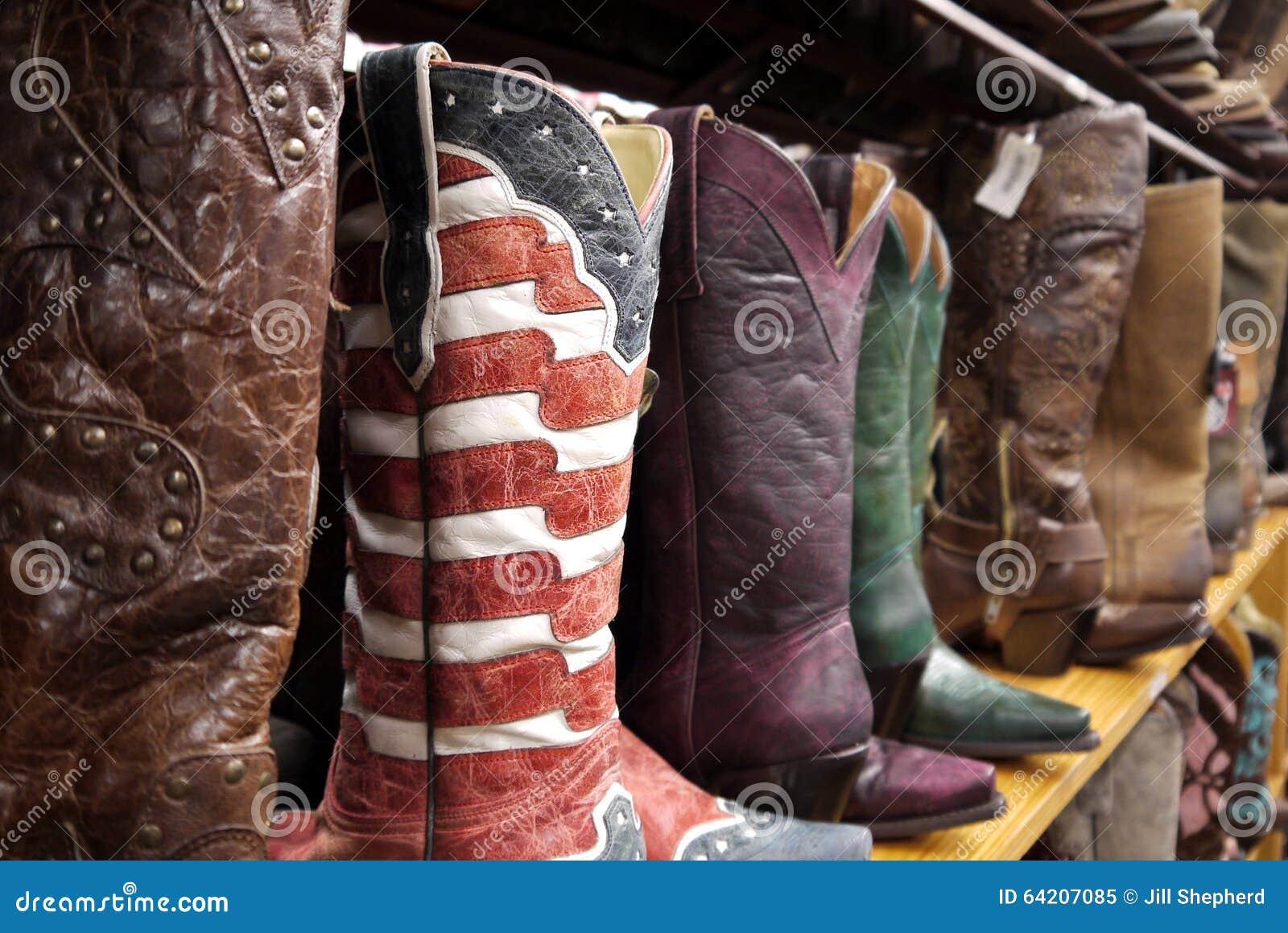 Botas de vaquero: bandera de las barras y estrellas