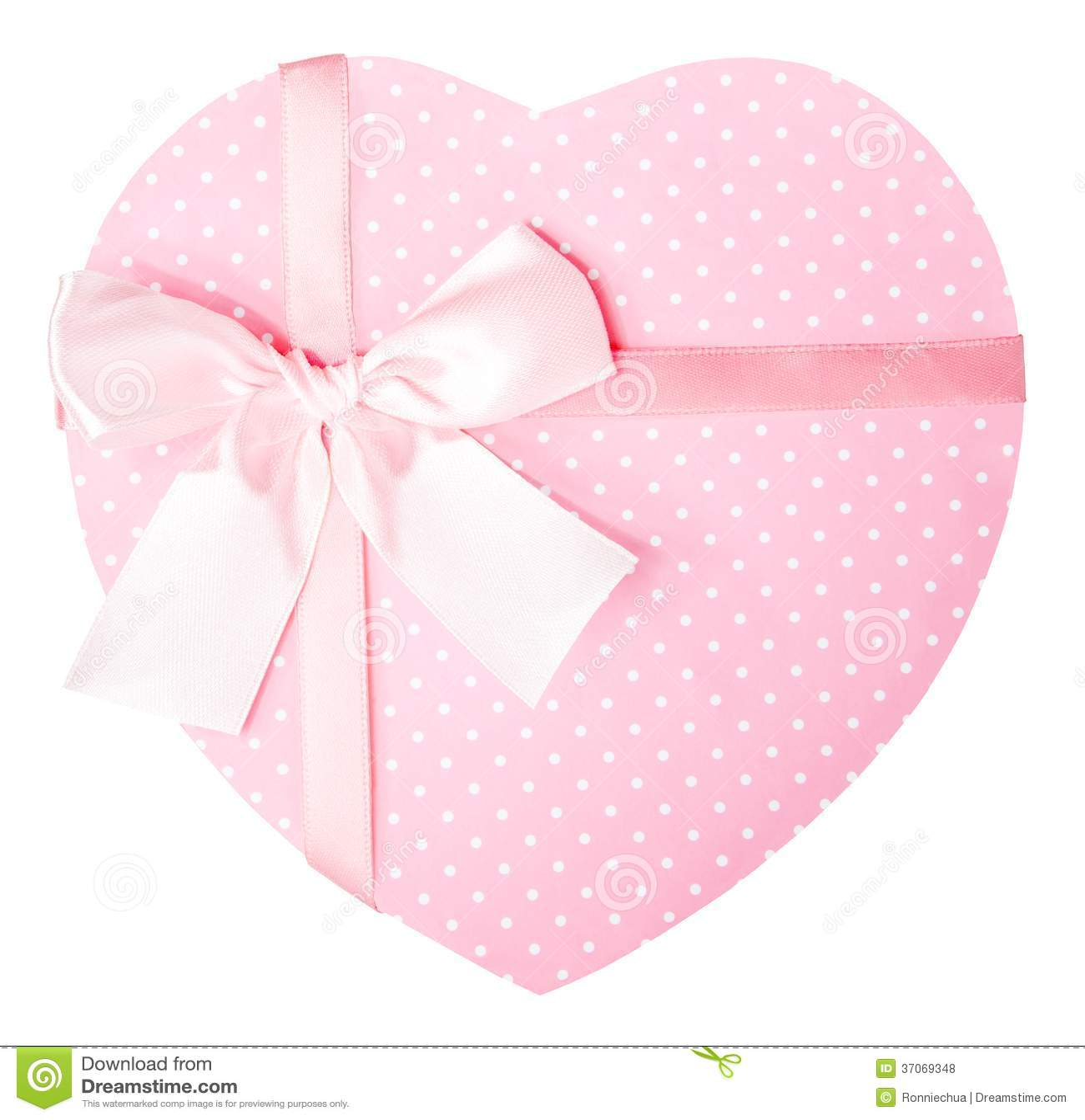 bo te cadeau en forme de coeur rose photos libres de droits image 37069348. Black Bedroom Furniture Sets. Home Design Ideas