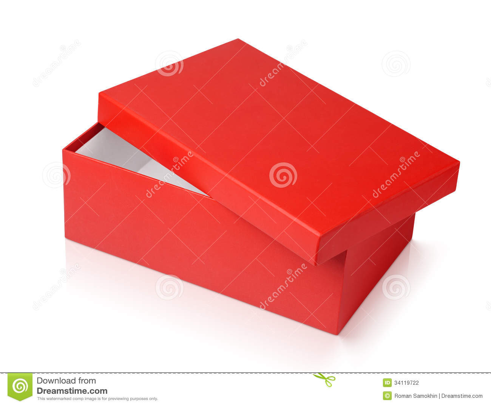 Bo te chaussures rouge d 39 isolement sur le blanc photographie stock im - La boite a chaussures ...