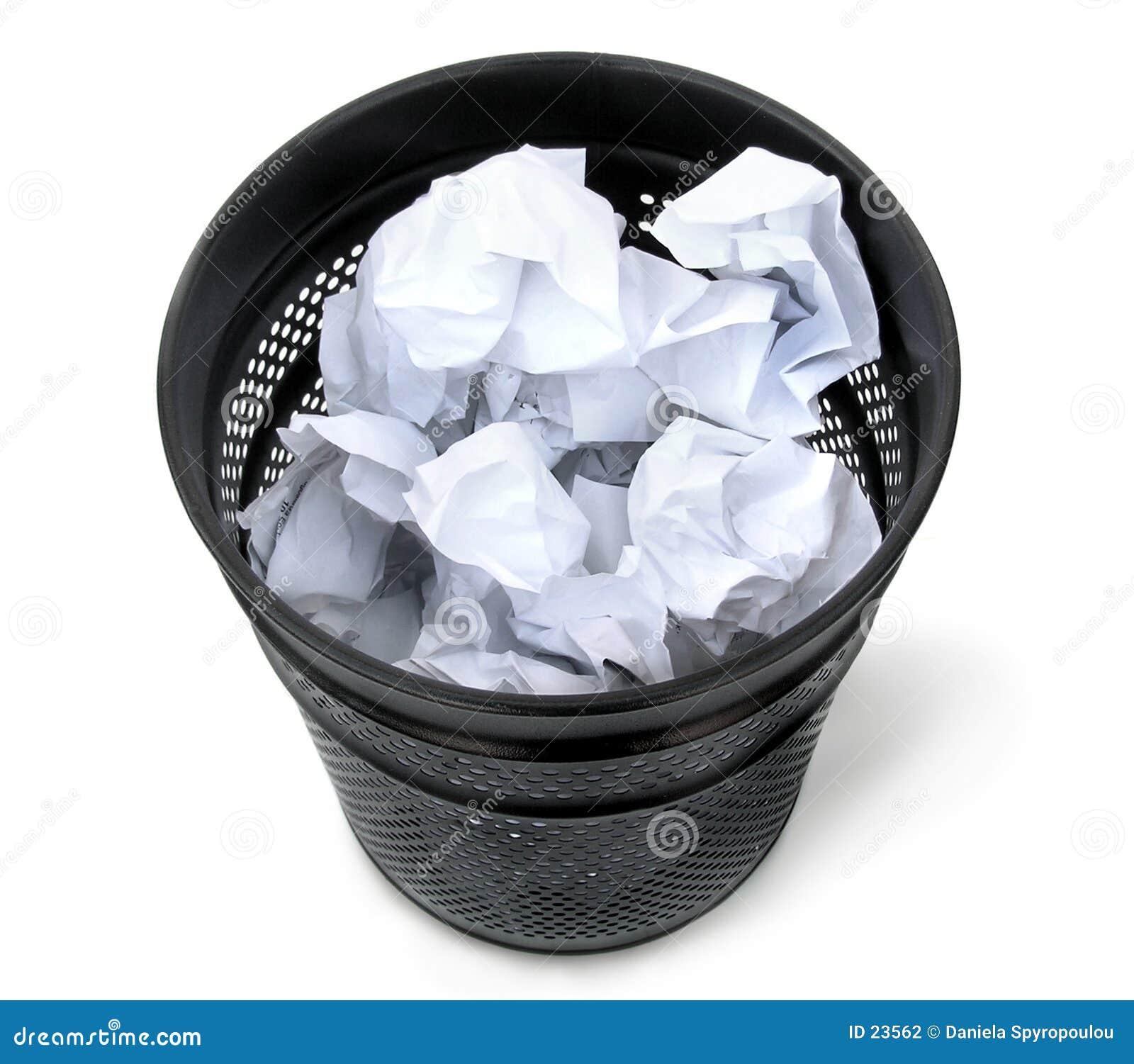 Download Bote de basura negro foto de archivo. Imagen de idea, negocios - 23562