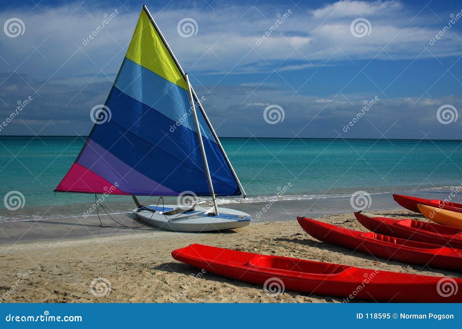 Bote em uma praia