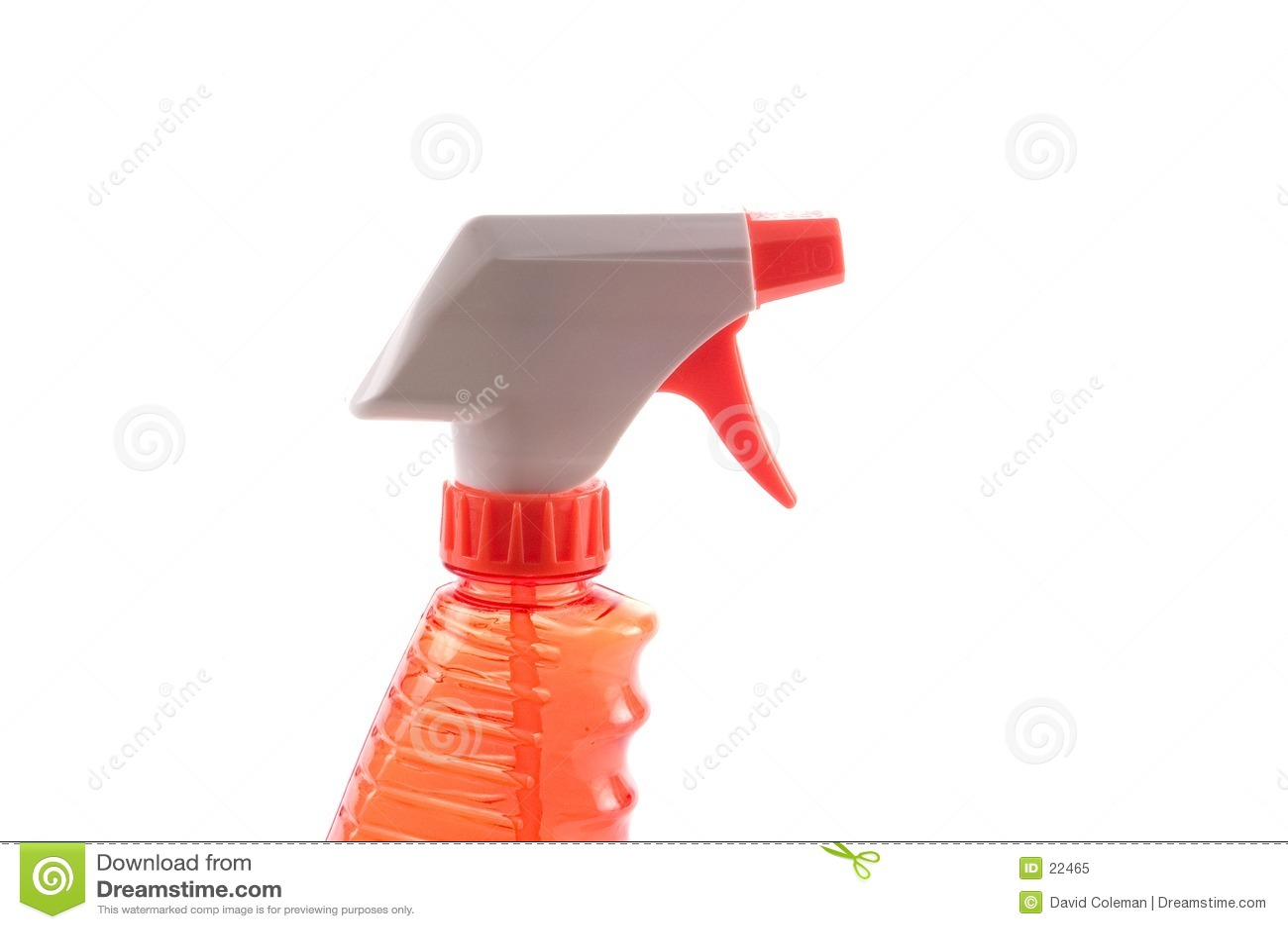 Botella anaranjada del aerosol