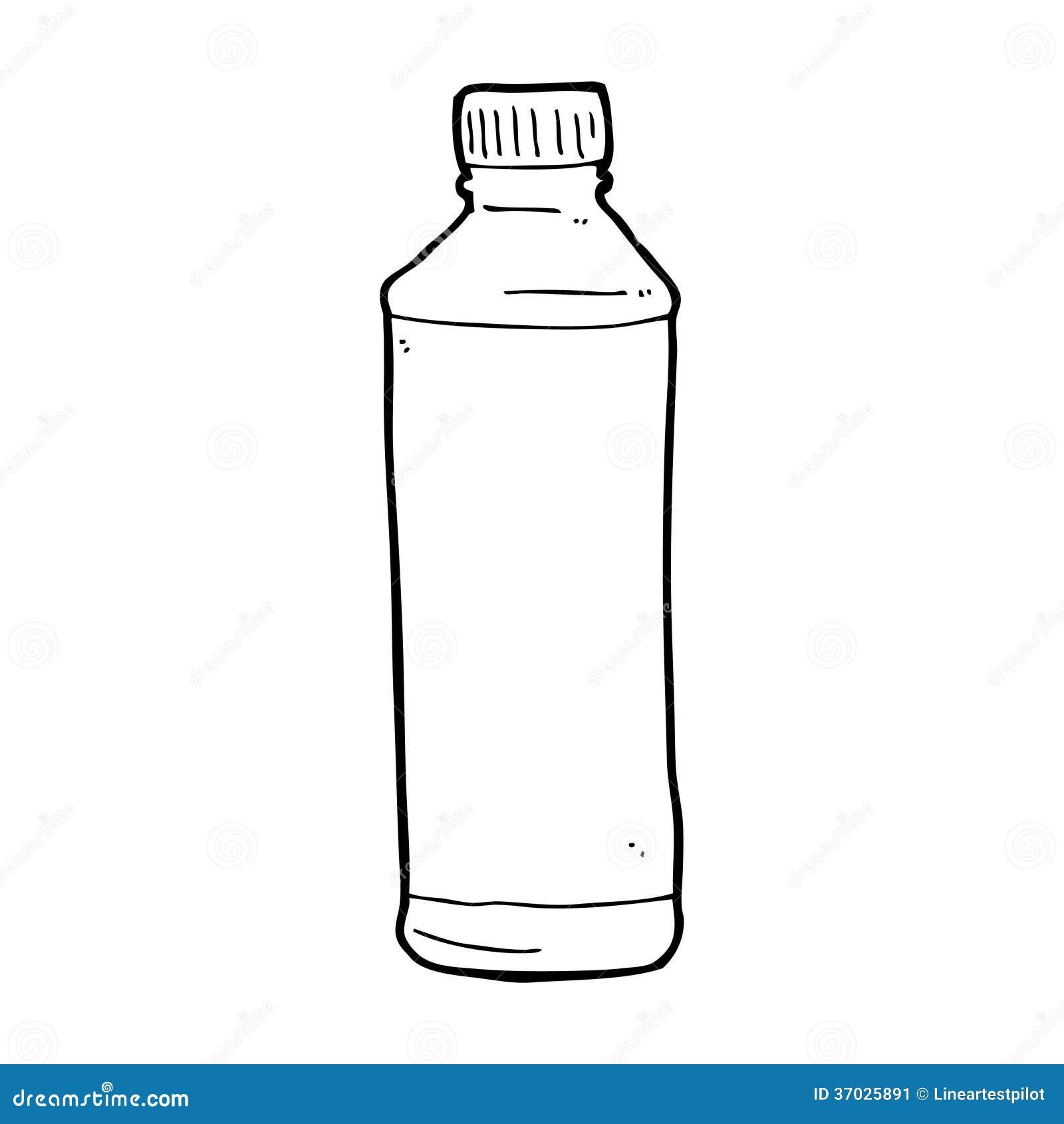 Kleurplaat Fles Water Botella De Agua De La Historieta Stock De Ilustraci 243 N