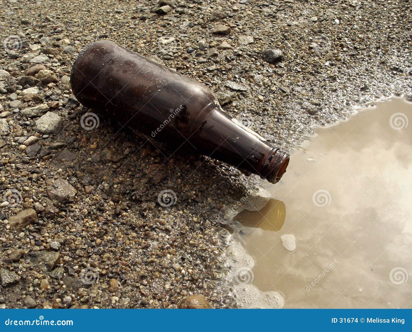 Download Botella De Cerveza En La Tierra Foto de archivo - Imagen de rocas, tierra: 31674