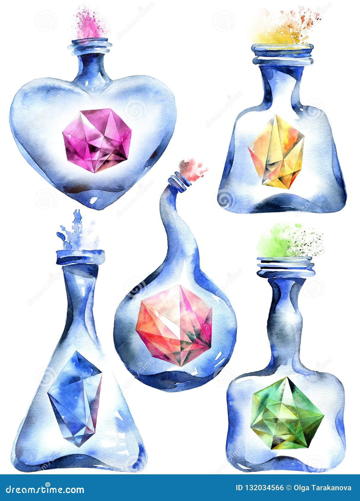 Botella mágica alquímica
