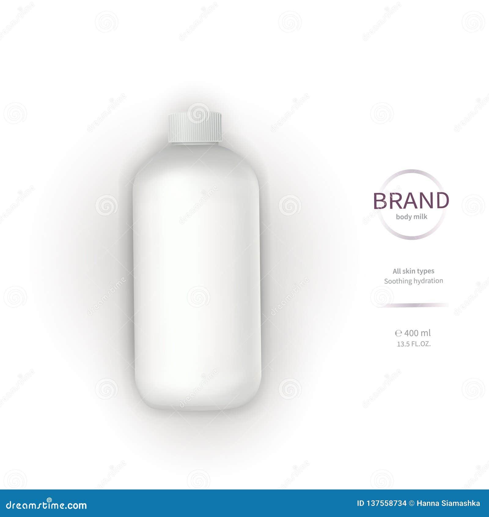 Botella plástica blanca con el dispensador