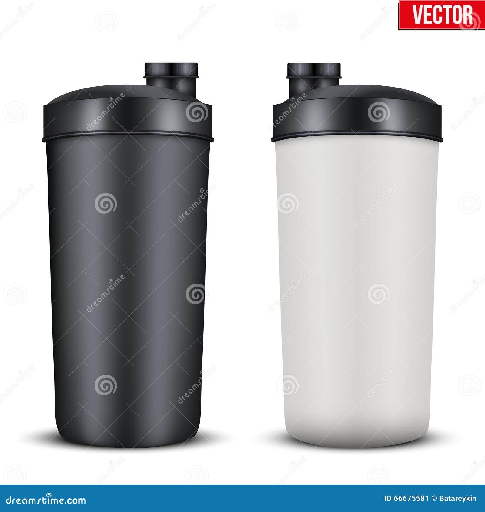 Botella plástica de la bebida de la nutrición del deporte de la maqueta