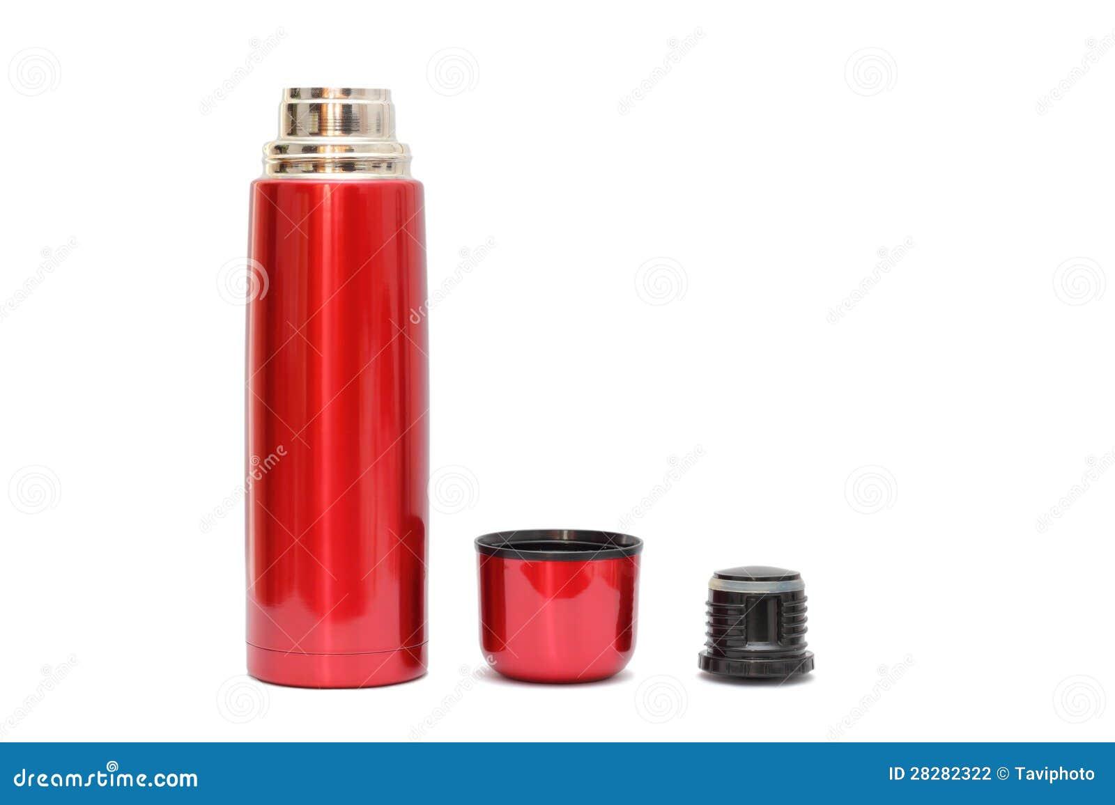 Botella terma roja