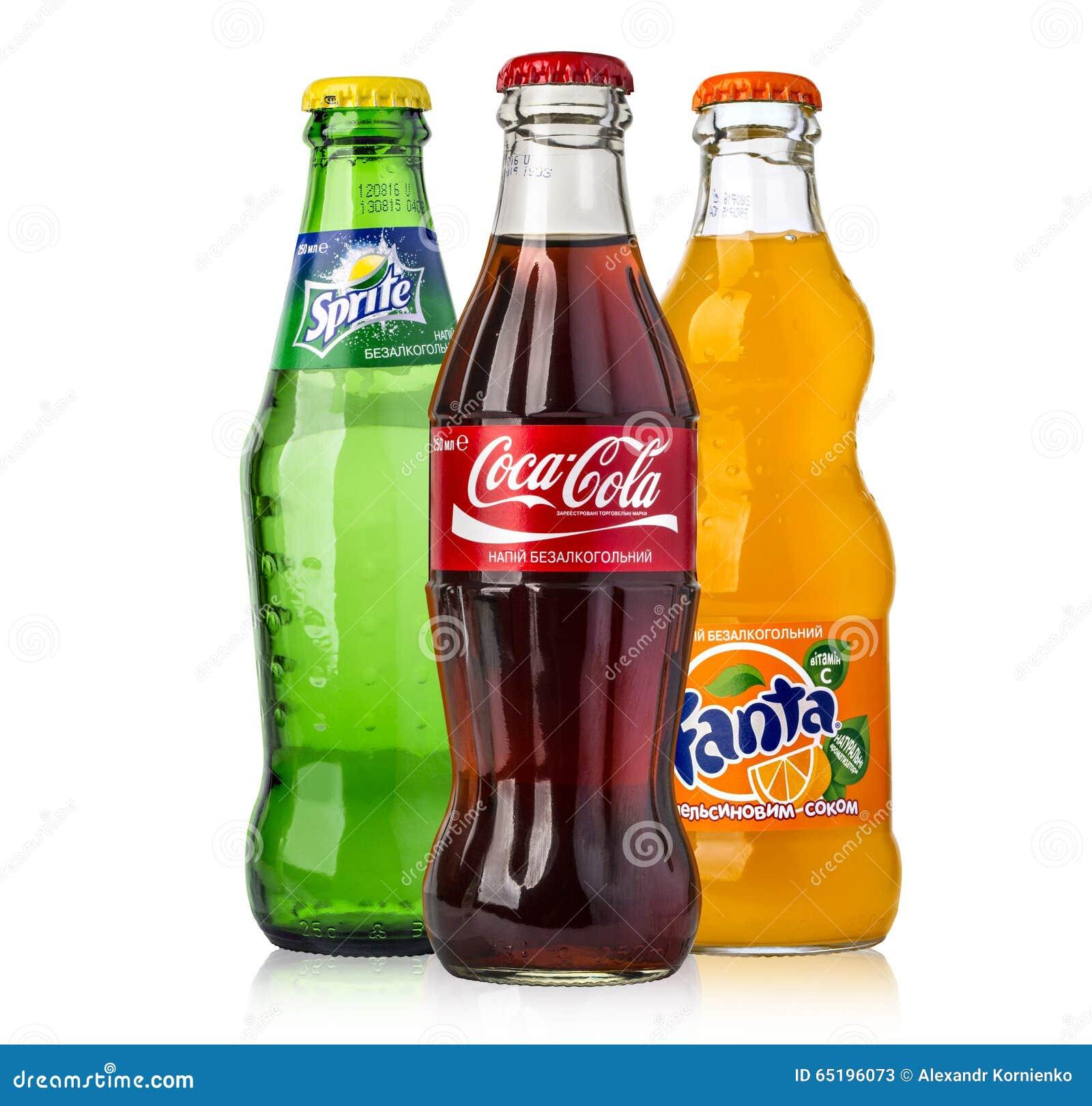 Botellas de cristal de coca cola de fanta y de sprite for Botellas de cristal ikea