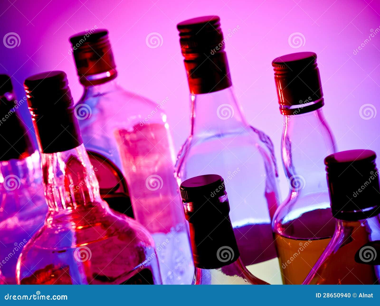 Botellas de la barra