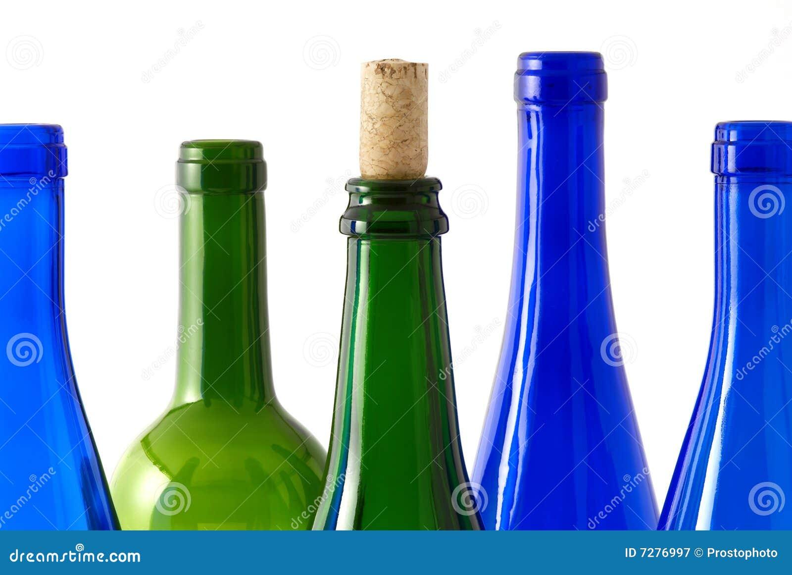 Botellas de vino transpatent del color
