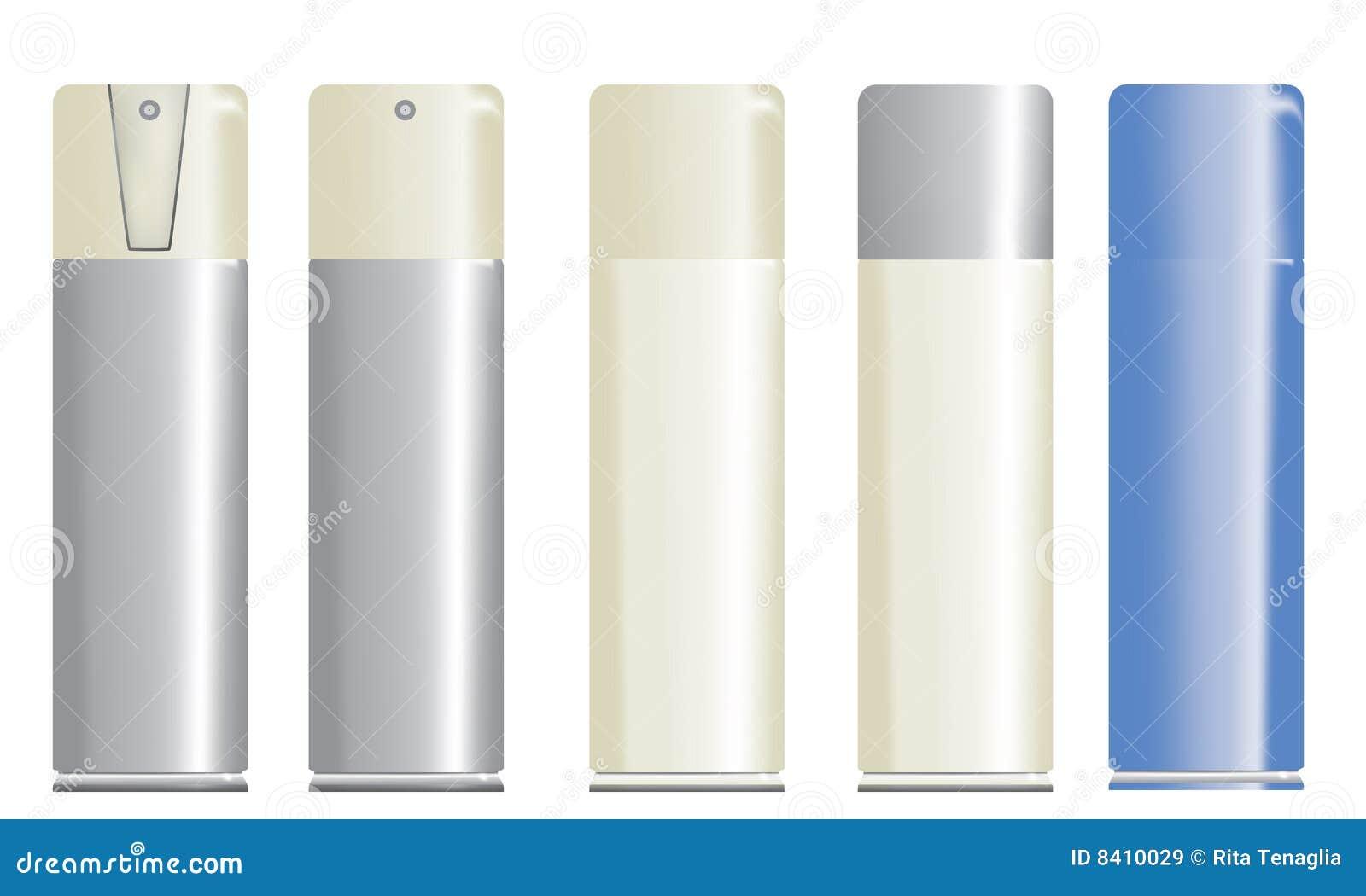 Botellas del aerosol