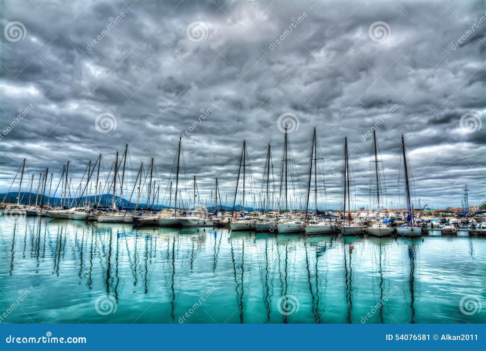 Boten in Alghero-haven