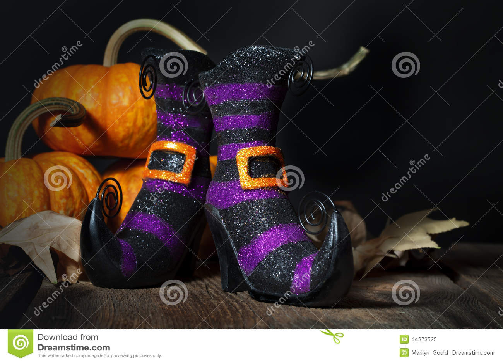 Botines de las brujas de Halloween