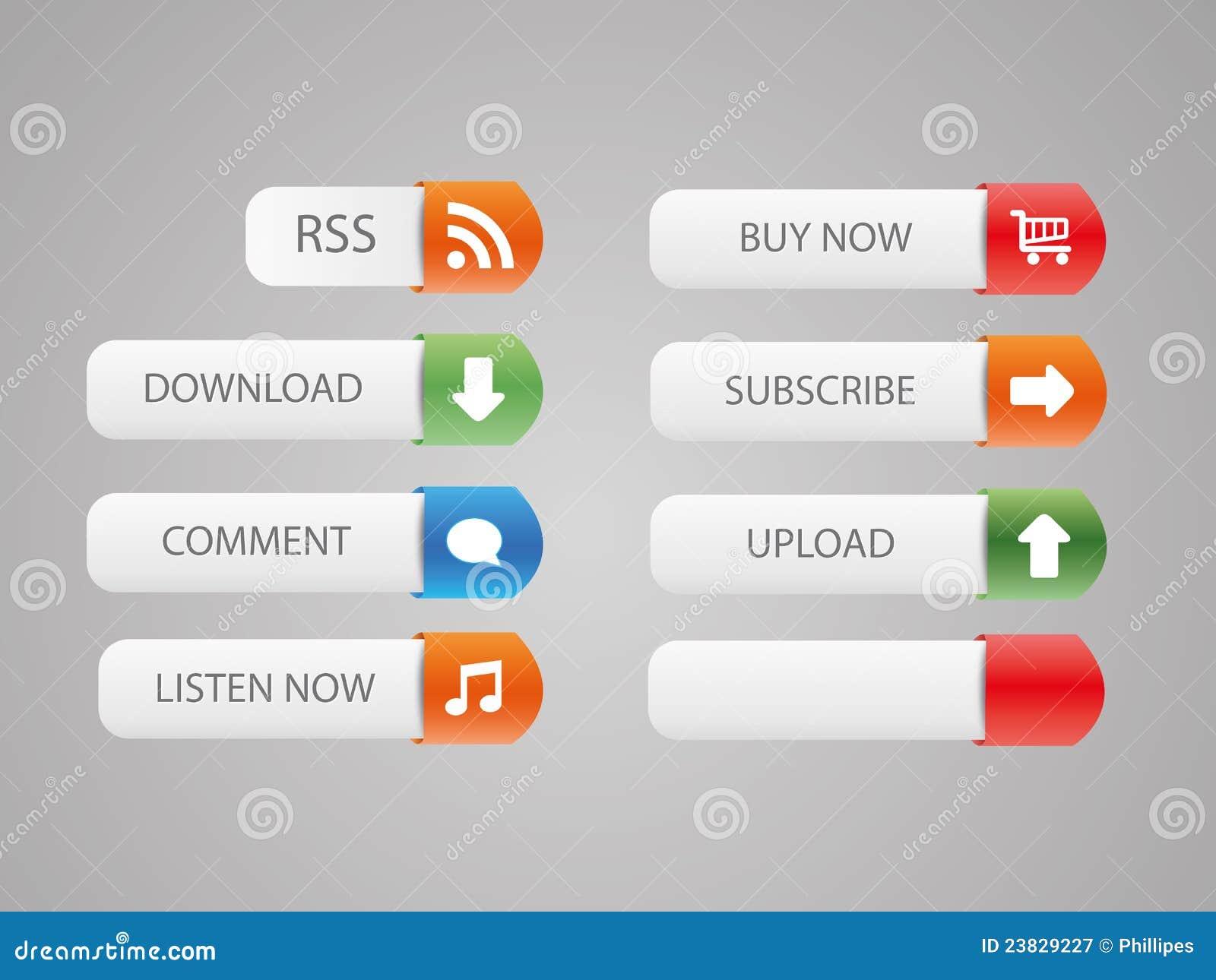 Botones agradables del Web