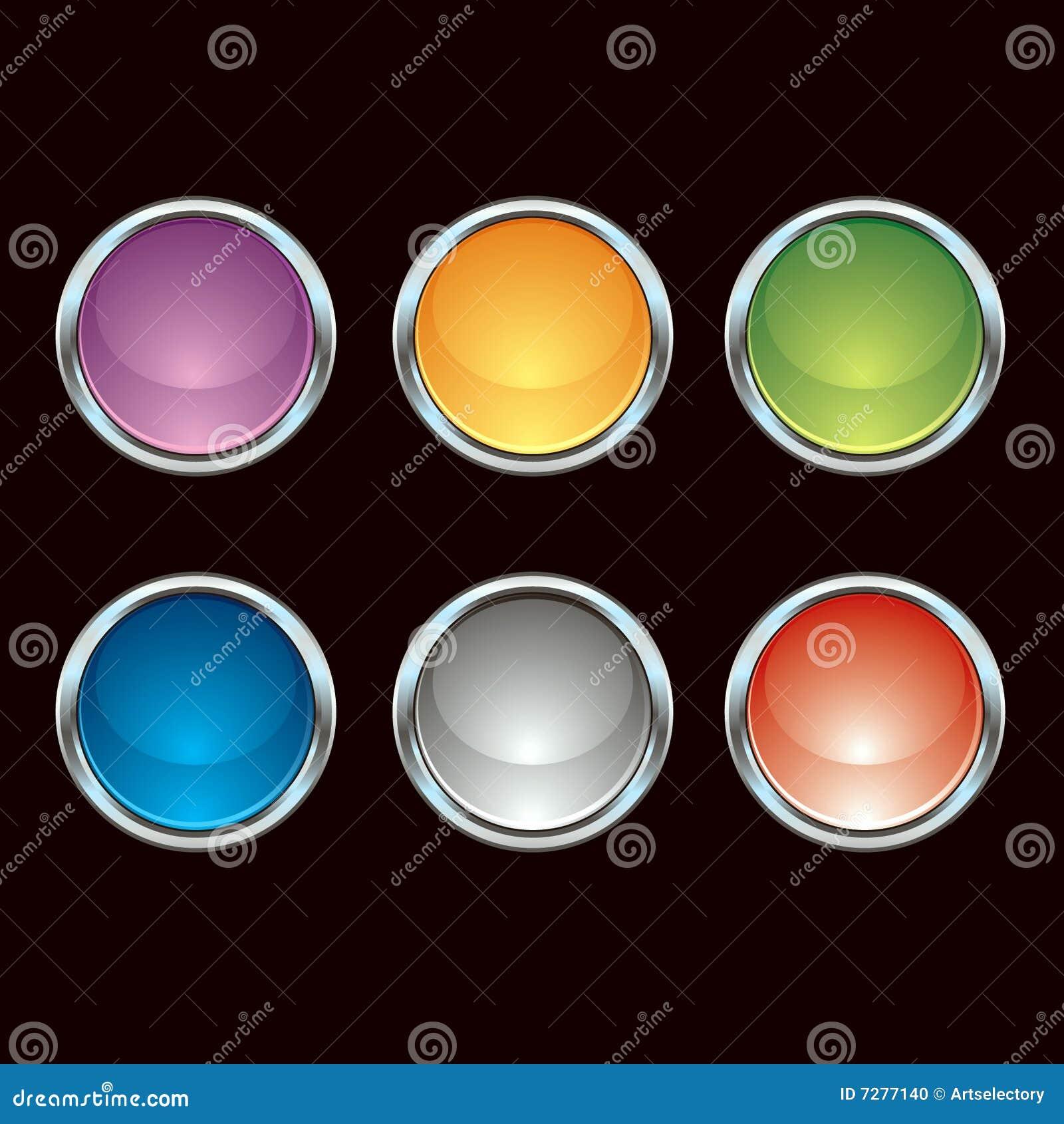 Botones brillantes del cromo