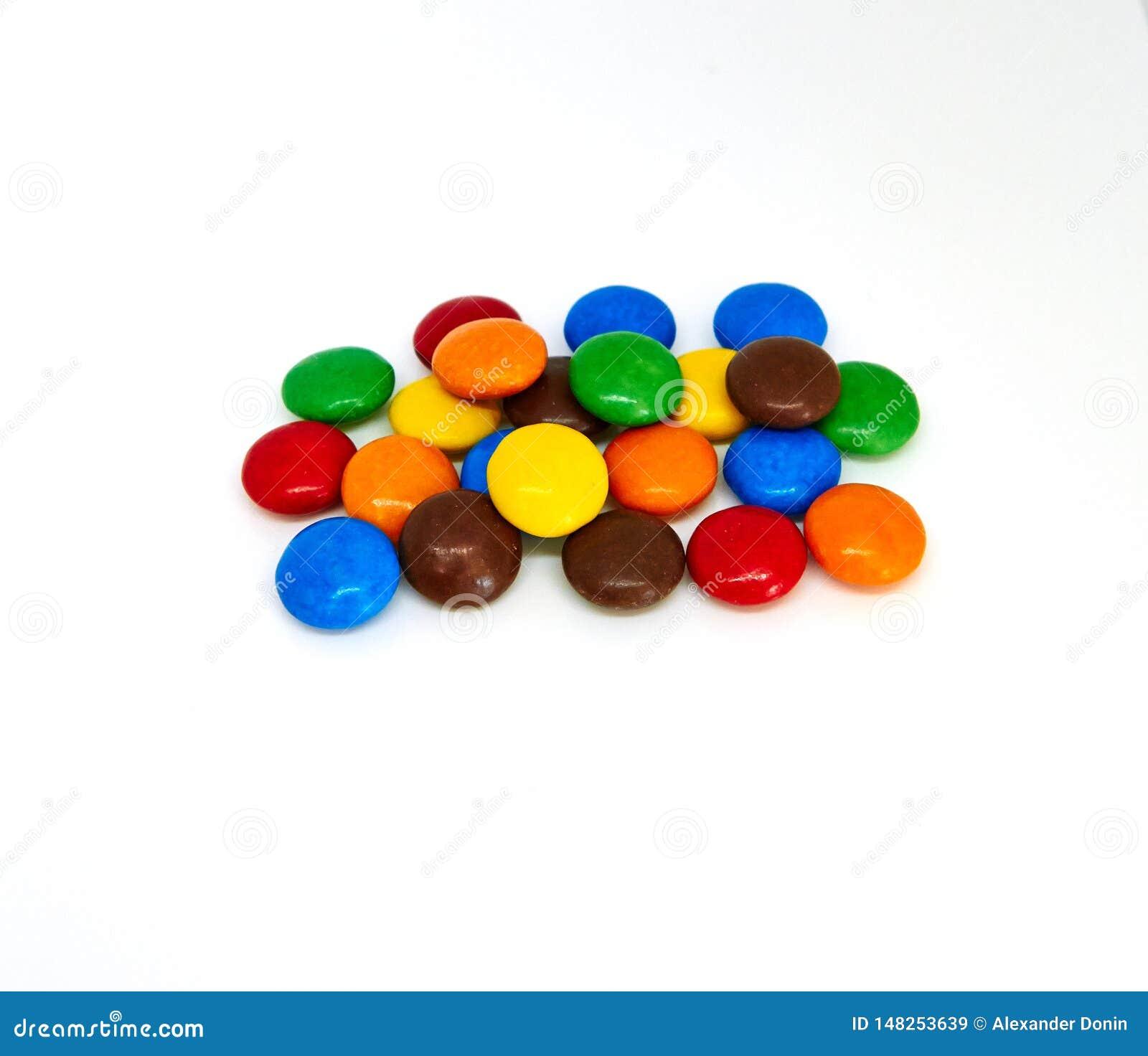 Botones coloridos del chocolate