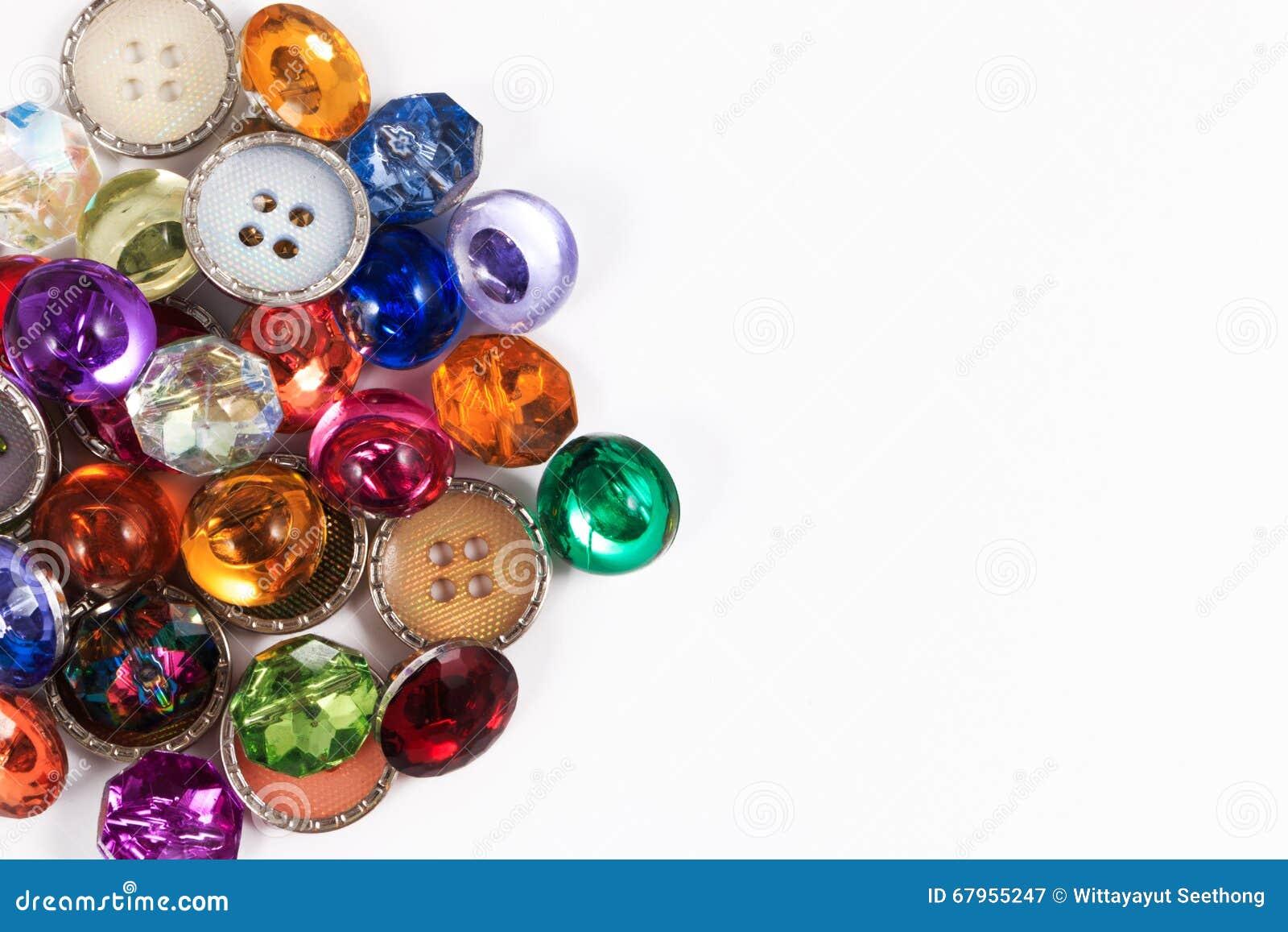 Botones de costura del botón o del libro de recuerdos del vintage colorido decorativo