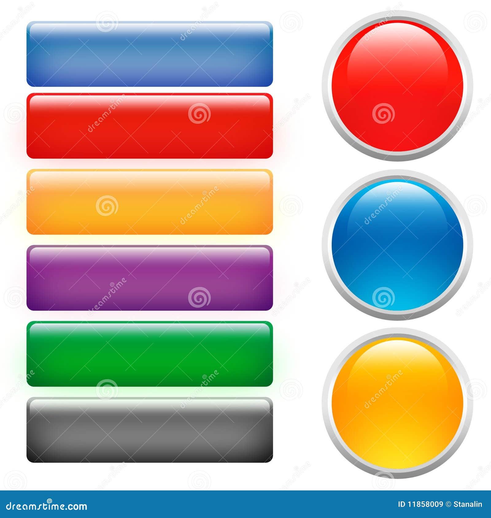 Botones de cristal