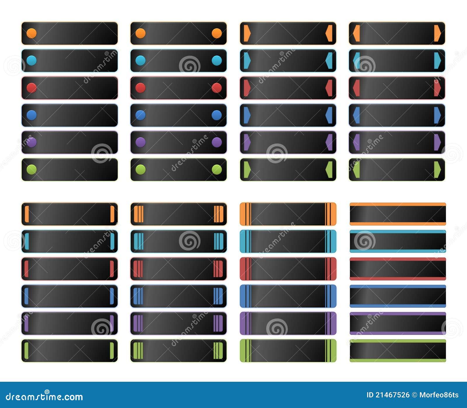 Botones de la bandera del Web
