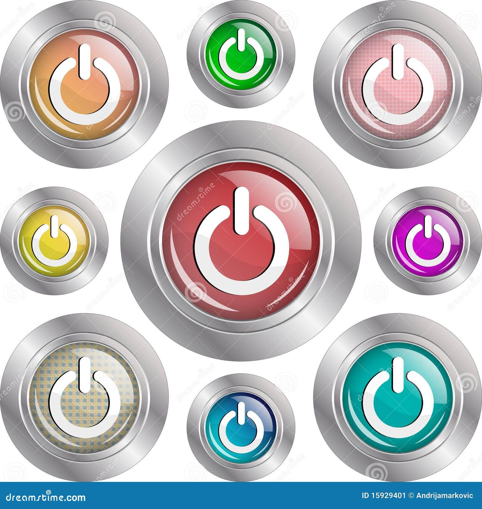 Botones de la potencia