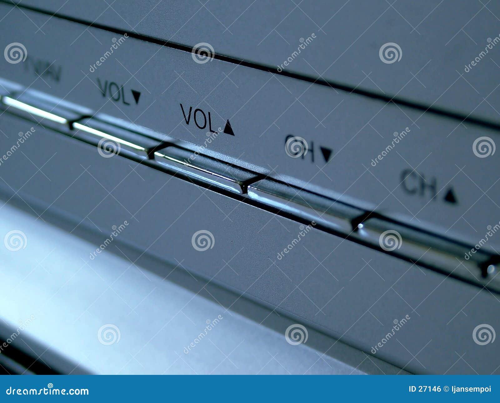 Download Botones de la TV foto de archivo. Imagen de plata, volumen - 27146