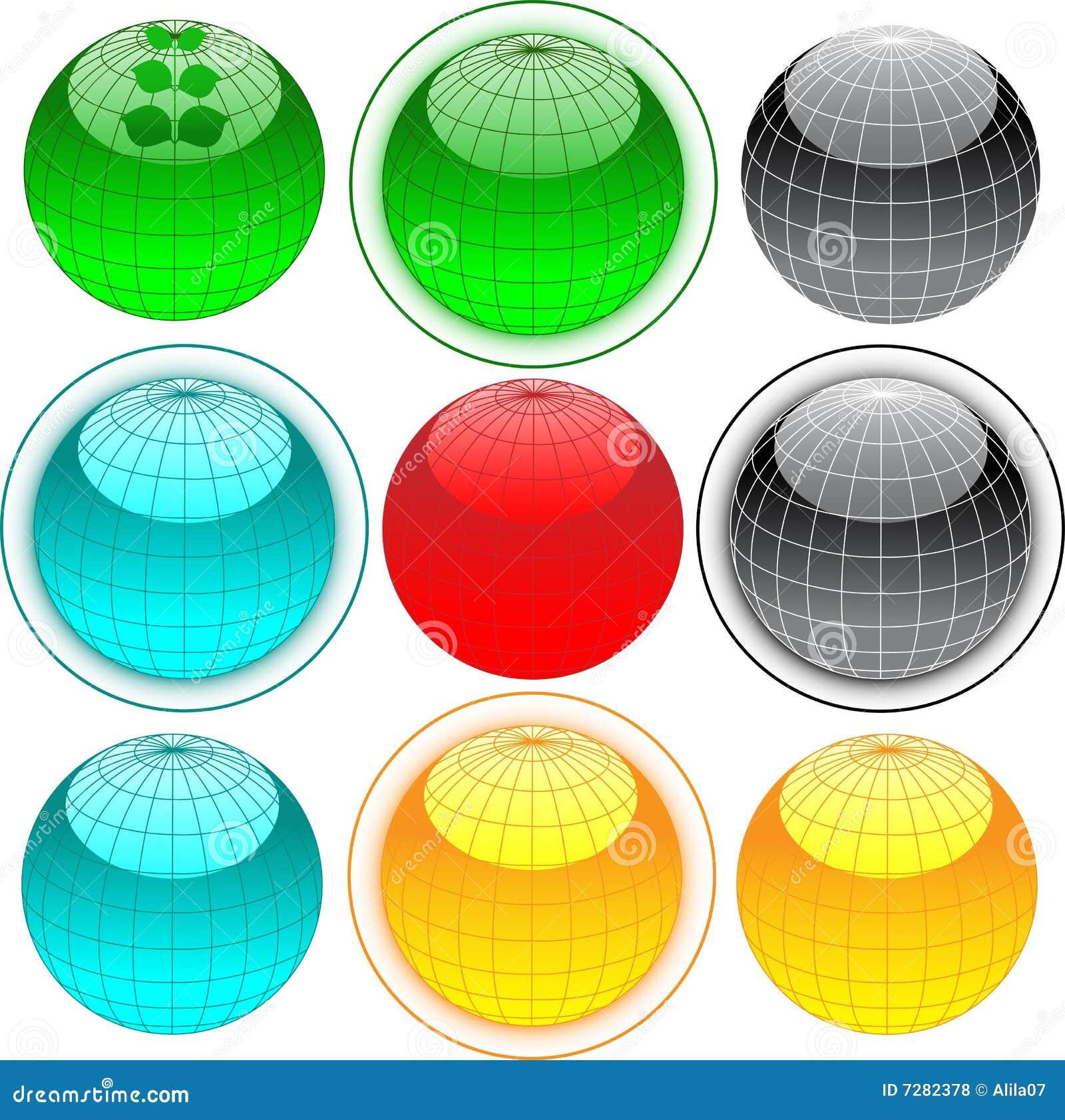 Botones del Web del globo