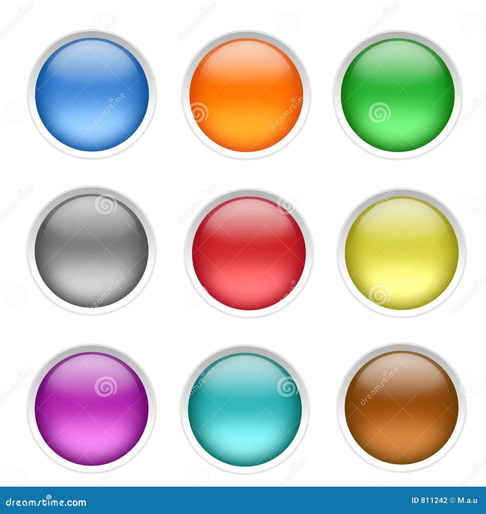 Botones en blanco