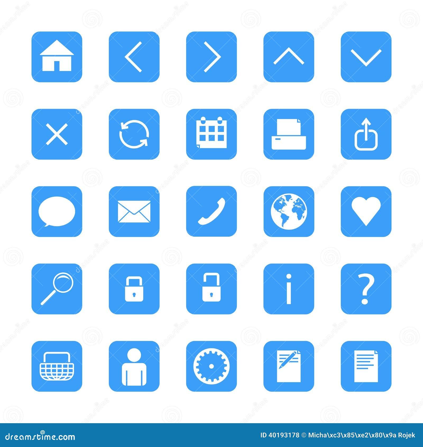 Botones minimalistas del web