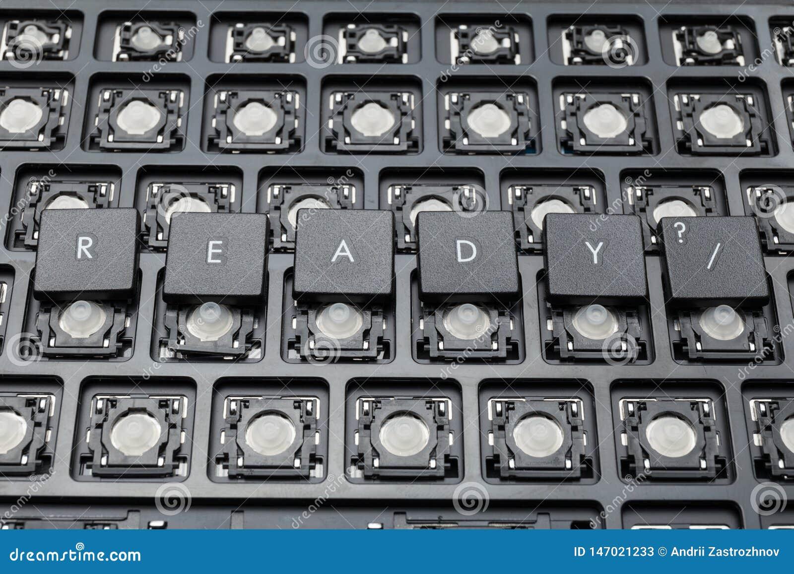 Botones negros listos de la PC Teclado viejo