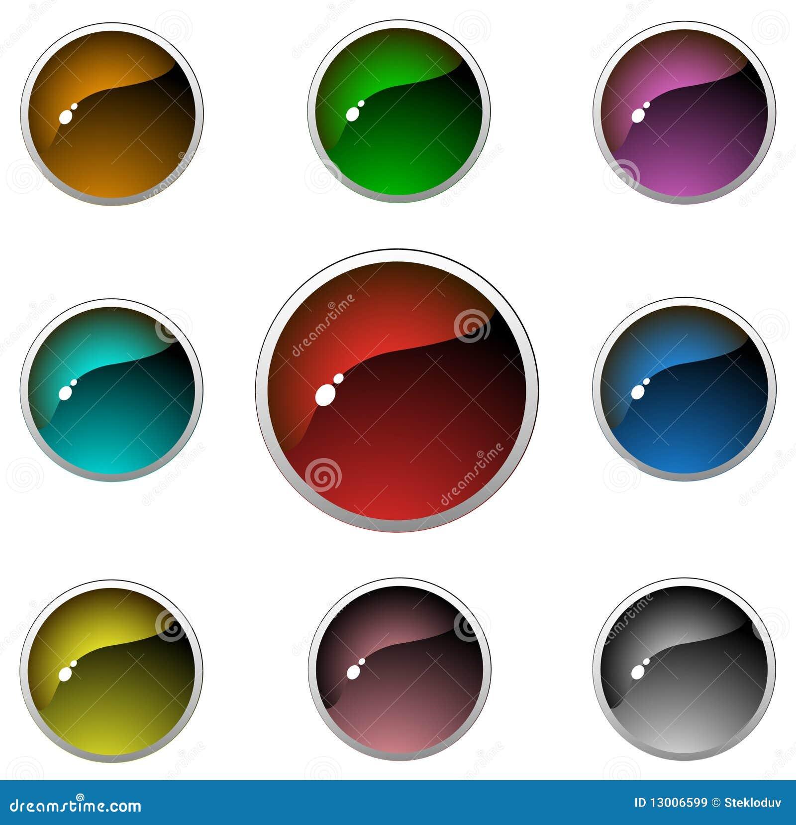 Botones transparentes del Aqua