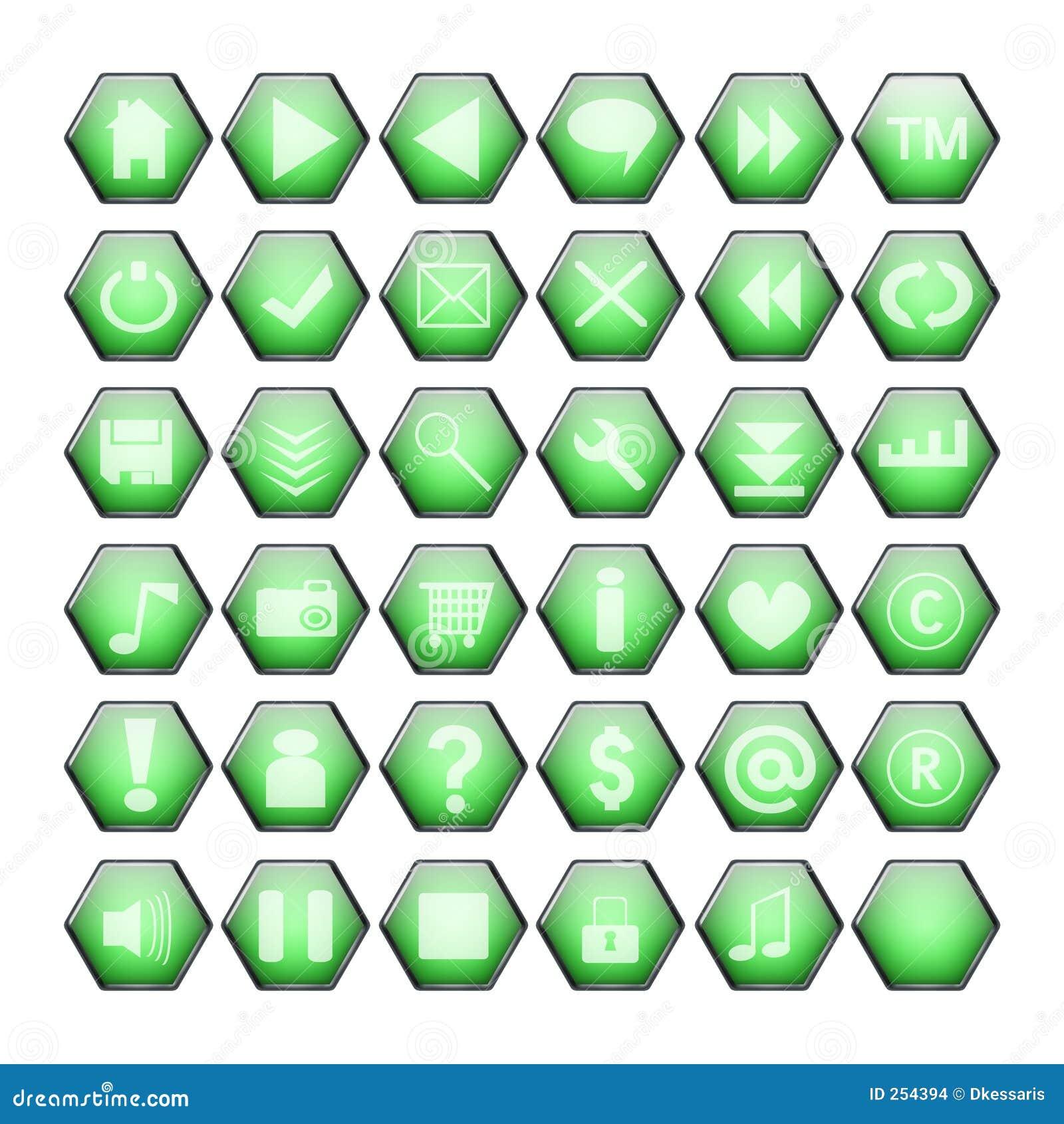 Botones verdes del Web