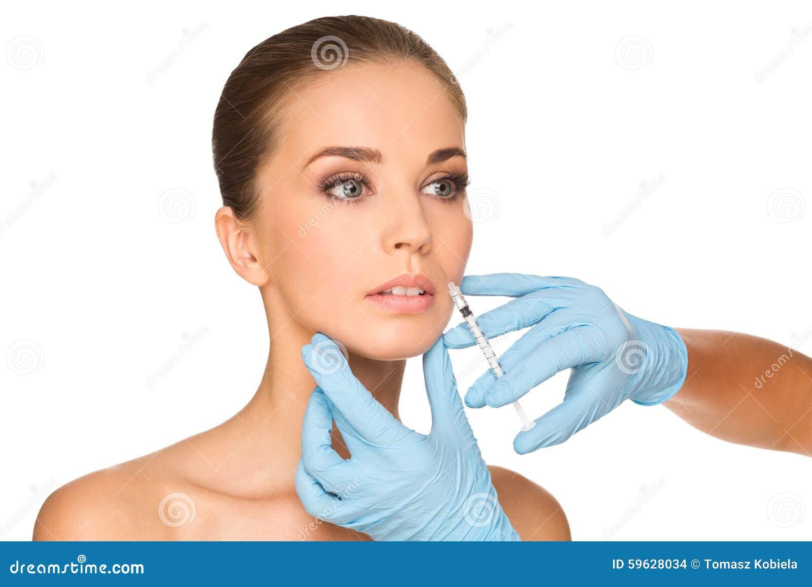 BOTOX® injecties op jonge vrouw