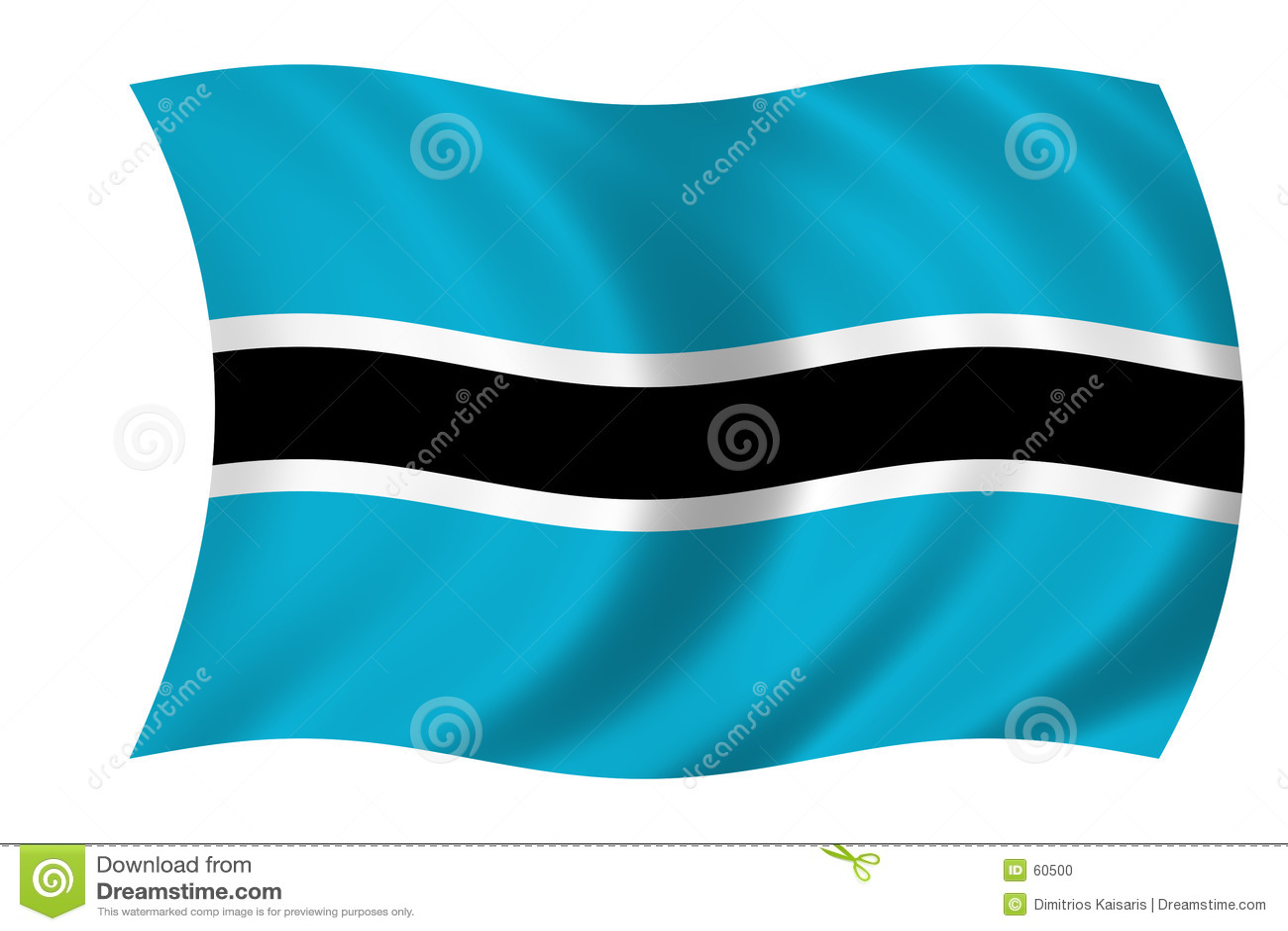 Botswana flagga