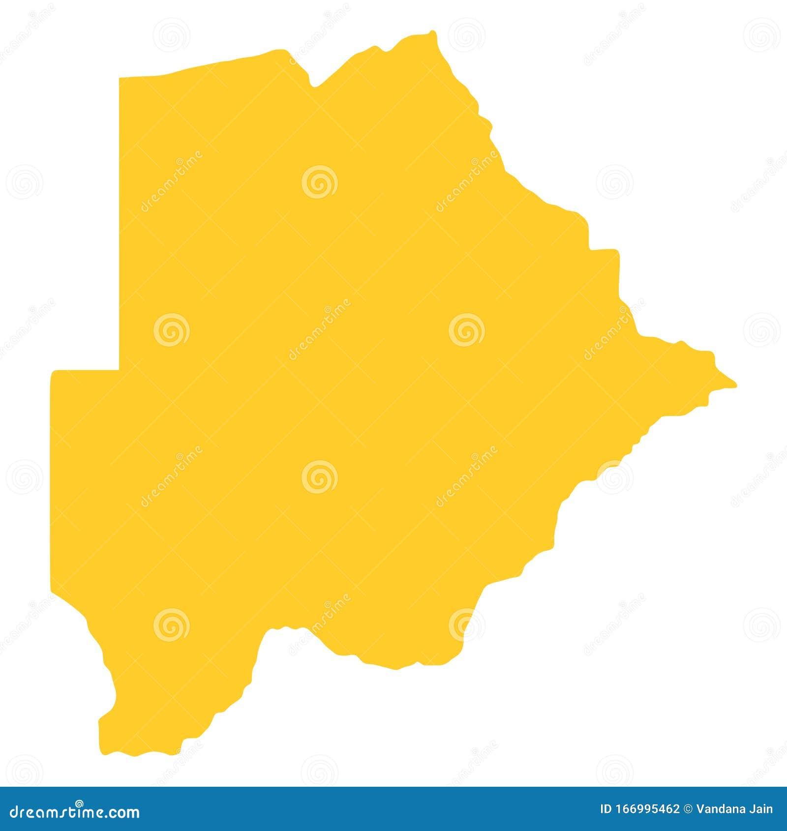 Picture of: Botswana Map Of Botswana Vector Silhouette Stock Vector Illustration Of Animals Landlocked 166995462