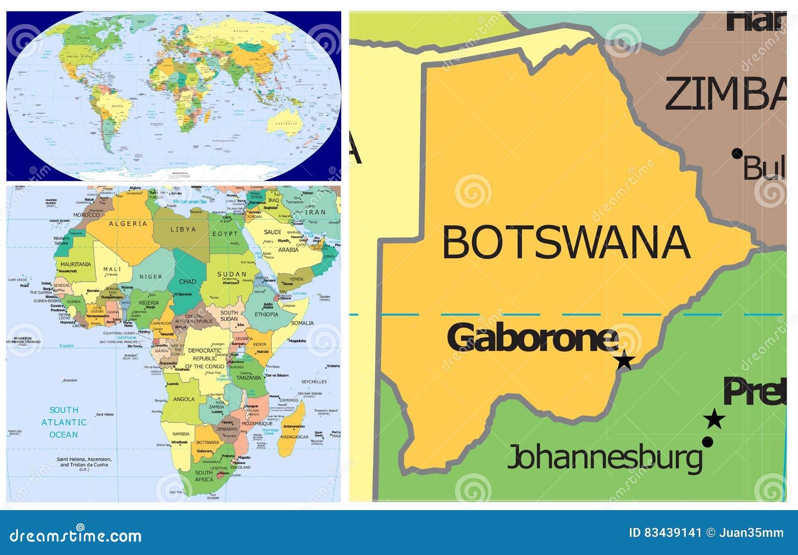 Picture of: Botswana World Stock Illustration Illustration Of Congo 83439141