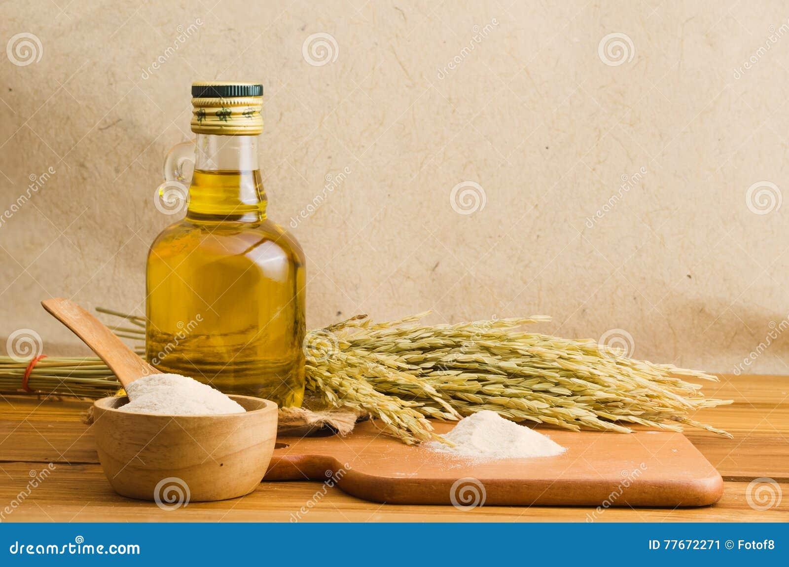 bottel of rice bran oil stock image image of bran plant 77672271