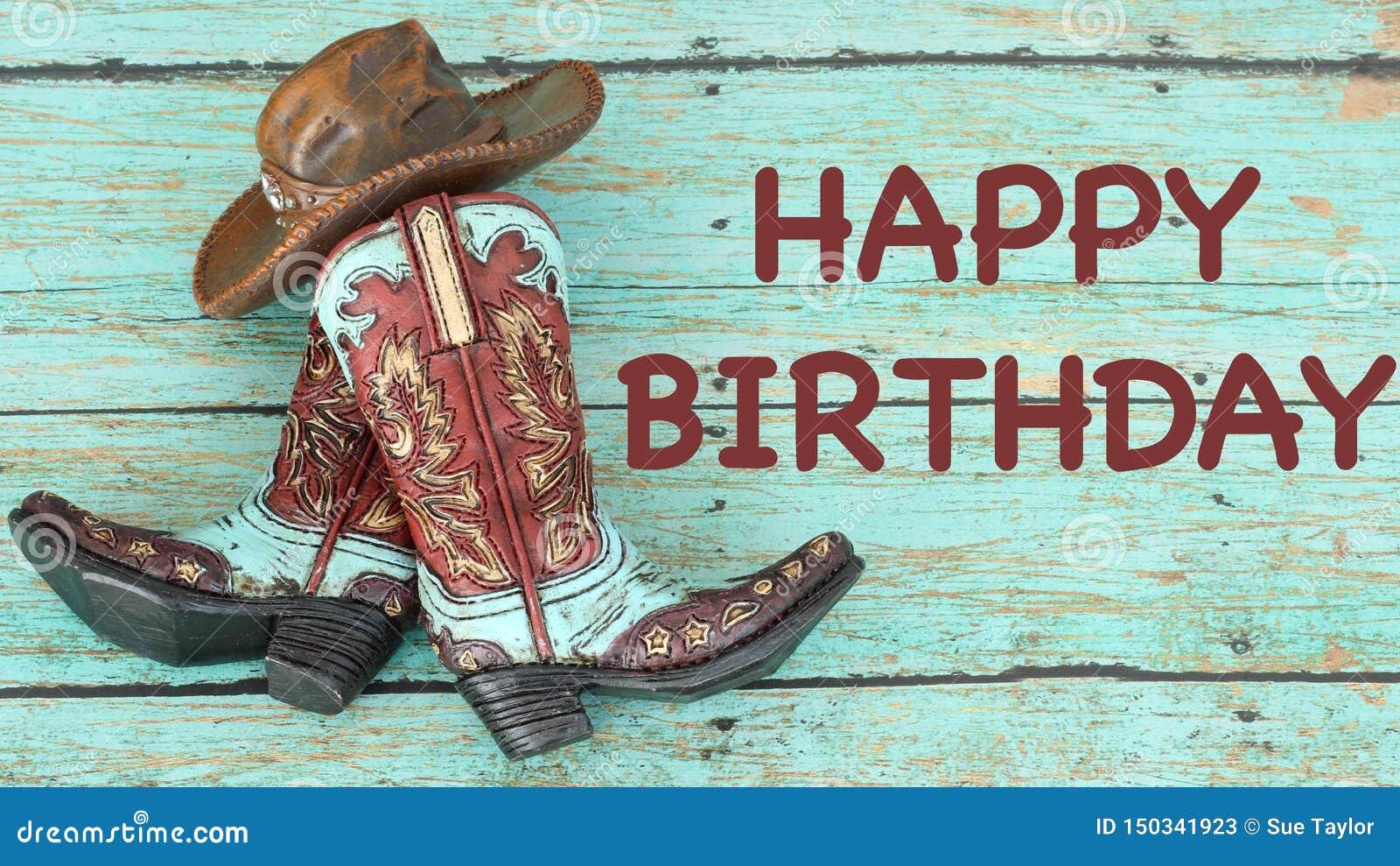 Bottes Et Chapeau De Cowboy Sur Un Fond De Sarcelle D Hiver Image Stock Image Du Cowboy Hiver 150341923