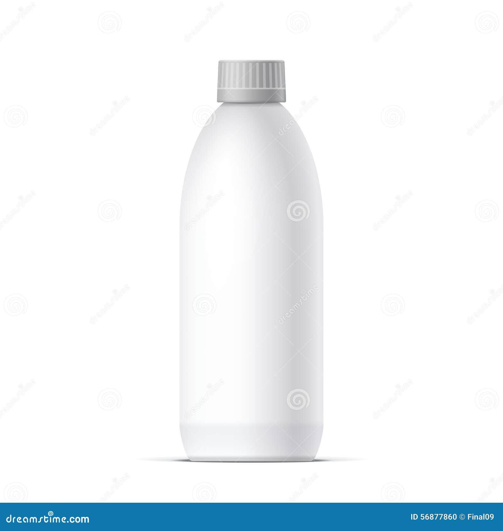 Bottiglia in bianco realistica sul vettore bianco del fondo