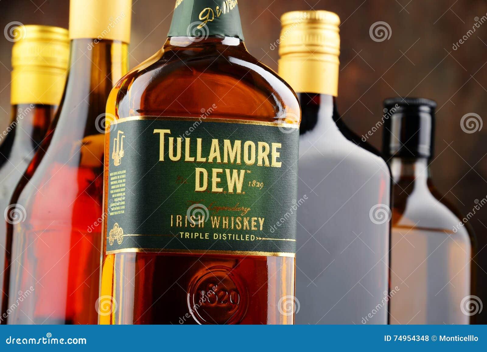 Bottiglia della rugiada di Tullamore, whiskey irlandese