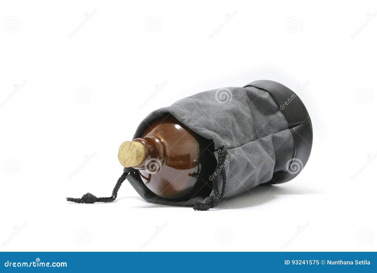 Bottiglia di causa su un fondo bianco