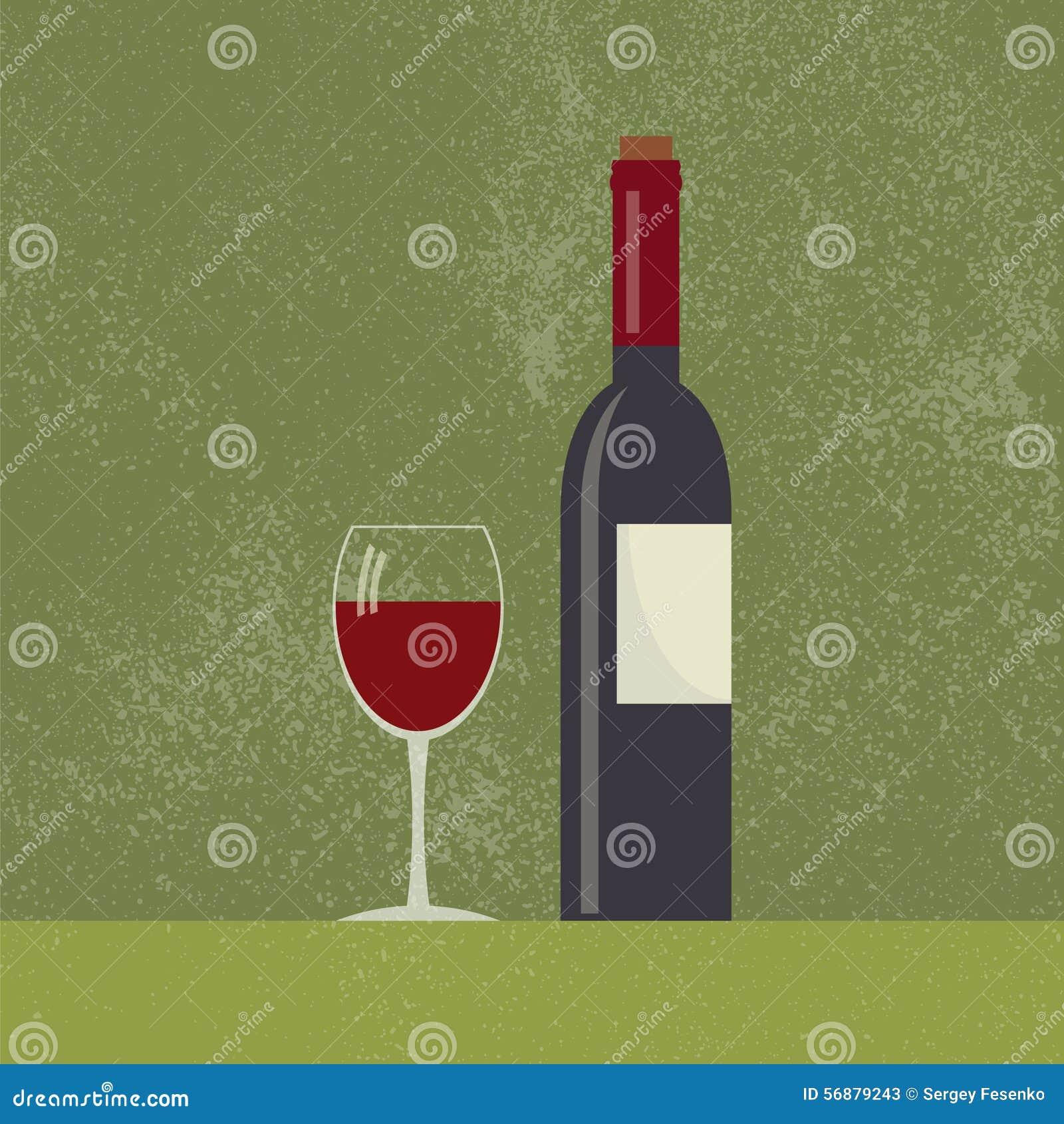 Bottiglia di vino e vetro di vino