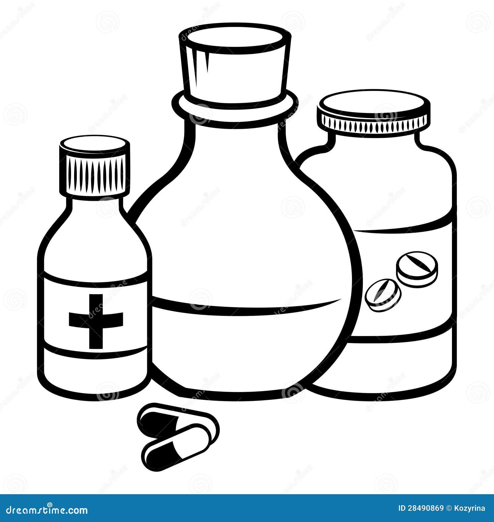 coloring pages medicine bottle - photo#7