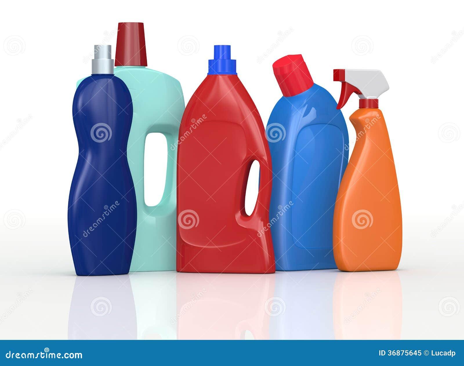 Download Bottiglie detergenti illustrazione di stock. Illustrazione di lavanderia - 36875645