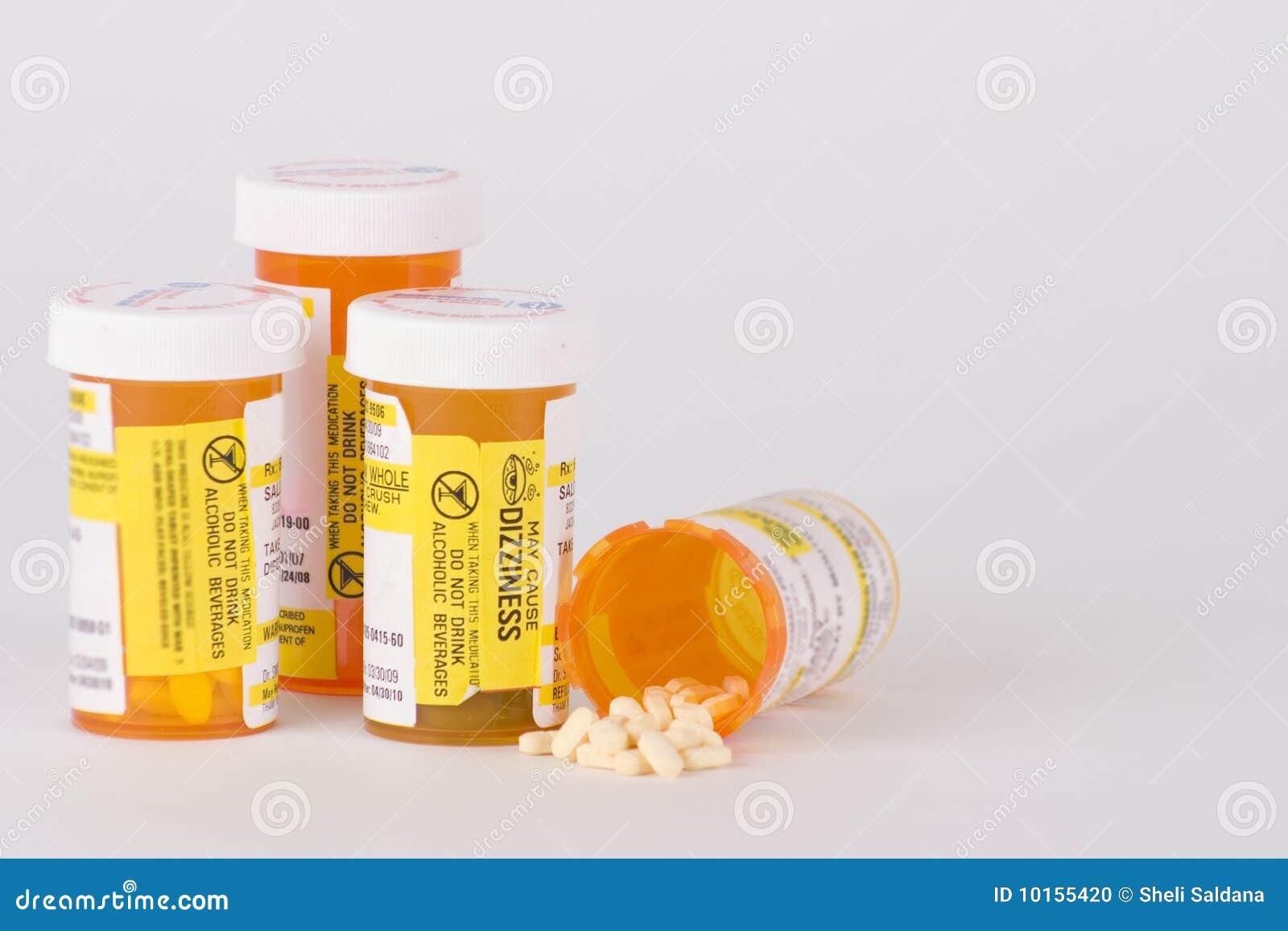 Bottiglie di pillola del farmaco di prescrizione 3
